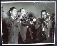 Ellington sidemen - Wallace Jones, Barney and Joe Nanton.