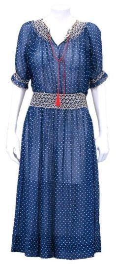 1920s dress via 1stdibs.com #VintagePolkaDotcom #alwaysbevintage