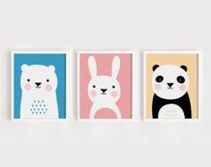 Printable Nursery Art Set of 3 Poster Elephants Love by ARTsopoomc
