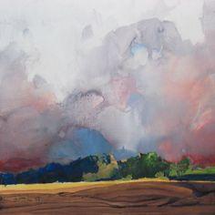 Painter's Process - Randall David Tipton Storm Break watermedia on Yupo 16x16