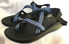 164422ed5555 Chaco Mens size 12 Z1 Unaweep Classic Sport Sandals Shoes Hike Blue Vibram   Chaco  SportSandals