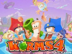 Worms 4  Android Game - playslack.com , Well-known and the most famous multiplayer strategy game now on mobile! As before, you'll need to be successful in a cutthroat war between worms. combats will need less time and players. Controls are perfected  for touch displays, and the graphics is still two-dimensional. captivating creation is an armament and armament transformation system. Also, be ready for an international war, where all players combat each other to gain scores for their faction.