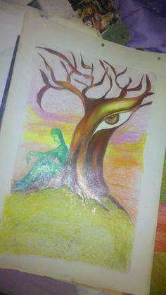 dibujos a lapiz con crayones