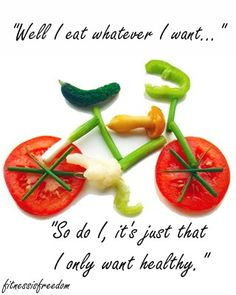 Yeah and it's tastes way better to eat all the healthy stuff I want. Wouldn't eat crap if you paid me!!