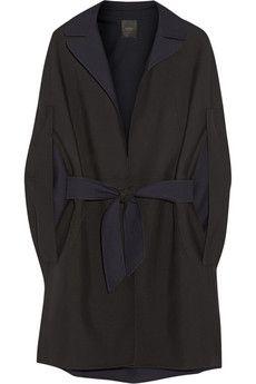 Agnona Wool-twill cape | NET-A-PORTER