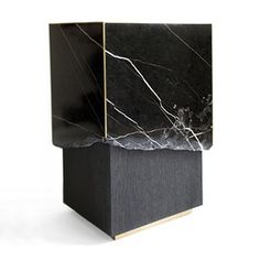 Marble Live Edge Side Table Contemporary, MidCentury Modern, Transitional, Metal, Stone, Wood, Side Table by Carlyle Collective