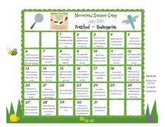 Neverland Summer Camp Preschool - Kindergarten Calendar July 2014 | Stir the Wonder