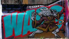 Splinter from #tmnt by Warg #Brighton #streetart #Brightongraffiti #paintedcity