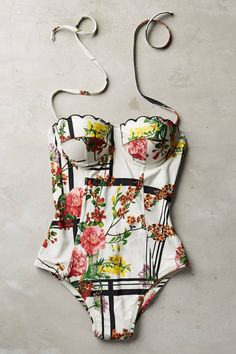 Scalloped Underwire Maillot - anthropologie.com