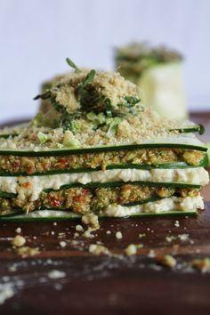 Divine Raw Lasagna - cashew cheese and broccoli sun-dried tomato pesto. Brought to you by, This Rawsome Vegan Life