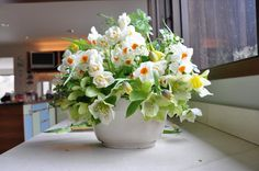 Herbs and spring flowers that are perfect for the Passover or Easter table.