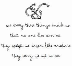 Learning to let go of the anchors (and people) weighing me down.
