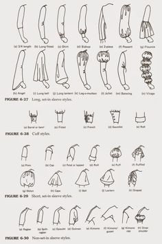 Different dress sleeves styles