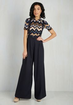 Conference Room Coffee Pants in Navy - Black, Solid, Casual, Minimal, Fall, Full length, Variation, Winter
