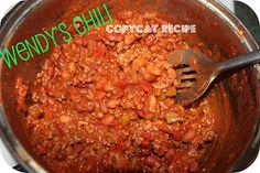 The Rookie Wife: Wendy's Chili COPYCAT Recipe