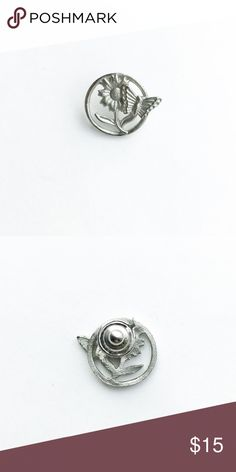 """Vintage Flower Child Pin Vintage Flower Child Pin  • true vintage • 7/8"""" x 3/4"""" • silver tone metal  • tags: butterfly, daisy, sunflower, rose, garden, pretty, beautiful, plant, hippie, bag, backpack, vest, jacket, hat, lapel, brooch • all of the pins I sell are vintage and may contain minor nicks, imperfections, or oxidation Vintage Accessories"""