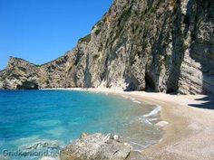 "Prachtig strand op Corfu ""Paradise Beach"". Lovely beach on Corfu called ""Paradise beach""."
