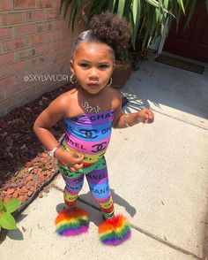 Fashion 2019 New Moda Style - fashion Cute Black Babies, Black Baby Girls, Beautiful Black Babies, Cute Little Girls Outfits, Cute Swag Outfits, Kids Outfits Girls, Cute Girls, Cute Kids Fashion, Baby Girl Fashion