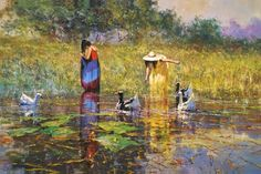 Impressionist painter.  Robert Hagan
