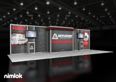 Nimlok designs and builds custom and custom modular trade show booths. For Accuride we built a custom 10x30 trade show booth solution to fit their needs.
