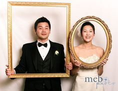 frames for the bride and groom