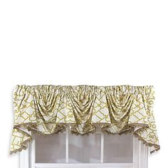 Garden Gate 3-Scoop Victory Window Curtain Swag Valance