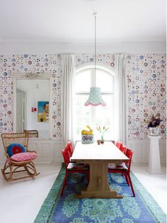 Whimsical dining area