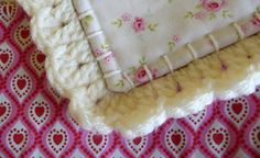 Fusion quilt patchwork with crochet border Free by FlowergirlMila