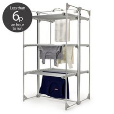 Dry-Soon Deluxe 3 Tier Heated Clothes Airer - Airers at Lakeland