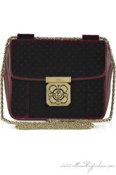 Chloé Elsie Square velvet shoulder bag