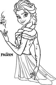 Enjoy this awesome Queen Elsa coloring page. Just print