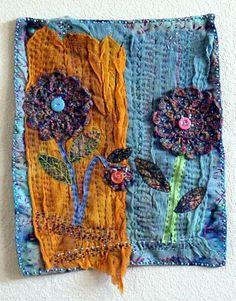 """Textile Art Quilts by Lynn Cohen """"Gossamer Spring"""""""