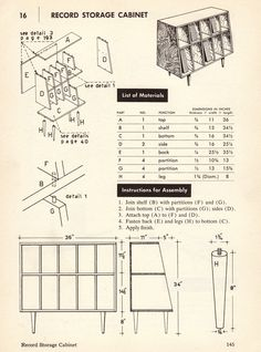 From How to Build Modern Furniture - Maria Dal Fabro, 1957.