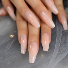 Natural Acrylic Nails, Acrylic Nail Tips, Simple Acrylic Nails, Acrylic Nail Designs, Simple Nails, Pointy Acrylic Nails, Natural Fake Nails, Natural Looking Nails, Coffin Nail Designs