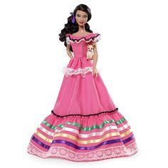 Mexico Barbie plus chihuahua, circa 2012 (photo by Mattel.com)