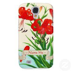 Nishimura Hodo Tiger Lilies shin hanga flowers Samsung Galaxy S4 Cover #galaxy #samsung #s4 #japanese #lilies #flowers