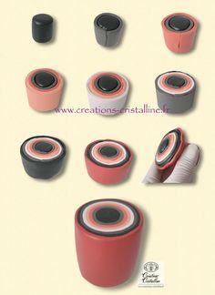 Cristalline fimo, tuto et bijoux en polymère: Oh et puis non .....Love the colors