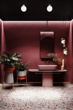 is luxury design design vector luxury design luxury design handmade italy design websites design interior design living room interiors bathroom luxury design Bathroom Red, Small Bathroom, Bathroom Ideas, Bathroom Goals, Maroon Bathroom, Burgundy Bathroom, Restroom Ideas, Boho Bathroom, Modern Bathroom