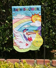 Love this 'Baby Shower' Small Flag on #zulily! #zulilyfinds