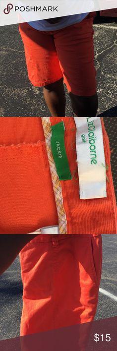 Liz Claiborne orange knee length size 16 Golf . Style : Jackie Liz Claiborne Shorts