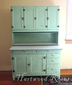 In late October, I found a wonderful deal on a large Hoosier cupboard (a Sellers, if we want to be perfectly correct about it) on Craig's Li. Upper Cabinets, Kitchen Cupboards, Antique Hoosier Cabinet, Buffet Hutch, Craftsman Kitchen, Craftsman Bungalows, Magnolia Homes, Fixer Upper, Storage