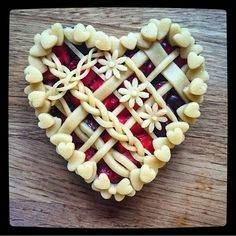 Heart Shaped Strawberry And Cherry Pie via @feedfeed on…