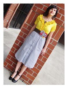 Skirt made from mens dress shirt