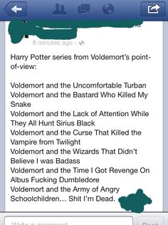 harry potter in voldemort's point of view - sorry for the language at the end... but this is pretry funny!