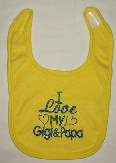 I love my Gigi & Papa custom embroidered bib by BoutiqfullyYours