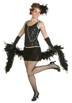 Now you can look like you've been dancing at one of the lavish parties depicted in the Great Gatsby! You'll become a swanky gal when you wear this Sequin & Fringe Black Flapper Dress. Don't forget to add a pair of fishnets for an even more dramatic look. Flapper Dress Cheap, Black Flapper Dress, Flapper Dresses, Flapper Girls, Prom Dresses, 1920s Halloween Costume, 1920s Flapper Costume, Chic Halloween, Roaring 20s Party