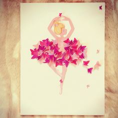 basteln ballerina