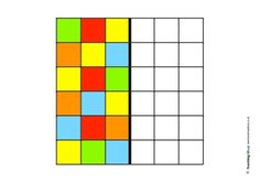 Challenge your children's symmetry skills with our colourful activity sheets! Just ask your students to complete the blank part of each grid by copying the reflection on the other side of the thick mirror line.