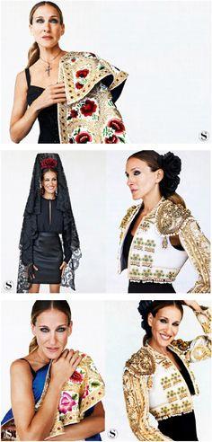 EDITORIALES DE MODA INSPIRADOS EN LA MODA FLAMENCA Mundo Fashion, Sarah Jessica Parker, Christian Lacroix, Spanish Style, Vest Jacket, Dancers, Diy Clothes, Inspire, Style Inspiration