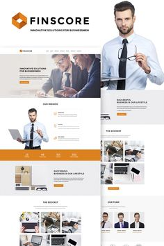 WordPress Theme , Finscore - Consulting Responsive